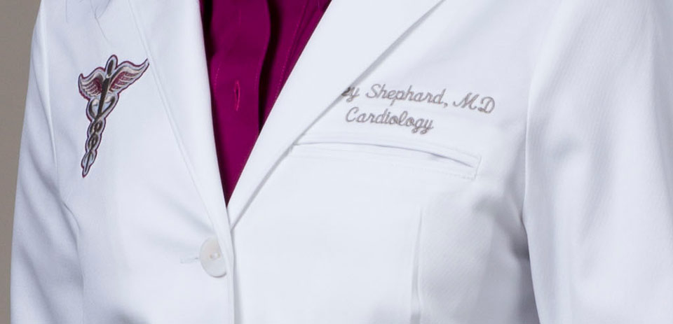 Physician White Coat Embroidery - Embroidery