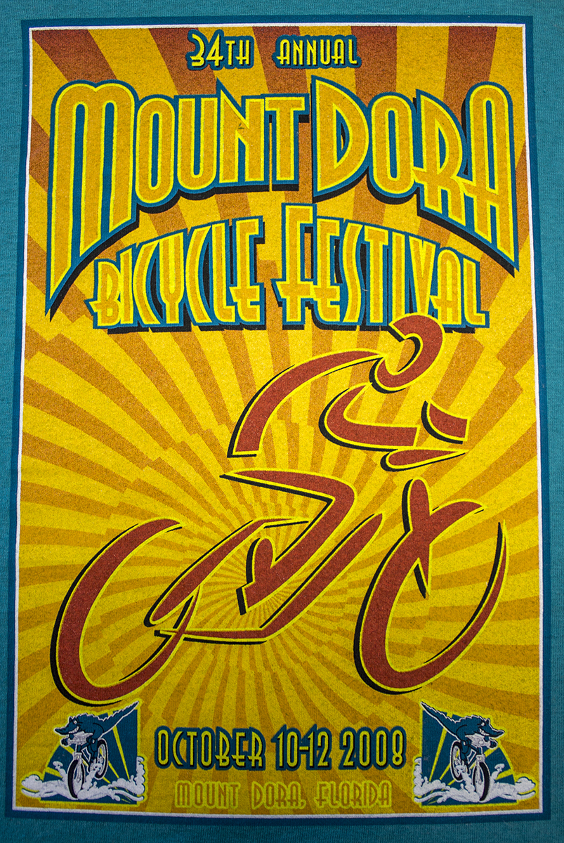 Custom Screen Printined Shirt - Mount Dora Bicycle Festival