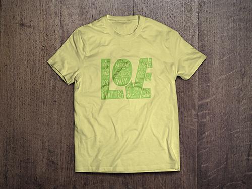 Custom T-Shirt Mock-Up | L.O.V.E