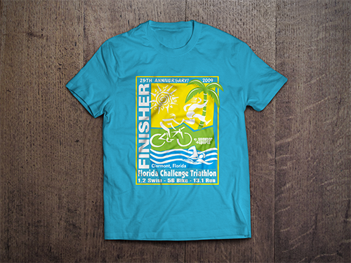 Custom T-Shirt Mock-Up | Florida Challenge Triathalon