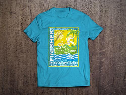 Custom T-Shirt Mock-Up | Florida Challenge Triathalon
