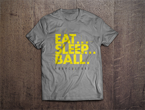 Custom T-Shirt Mock-Up | Hoops Culture - Eat Sleep Ball
