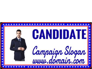 political sign maker Candidate with star border